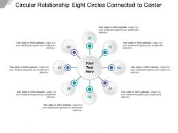 Circular Relationship Eight Circles Connected To Center