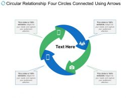 Circular Relationship Four Circles Connected Using Arrows