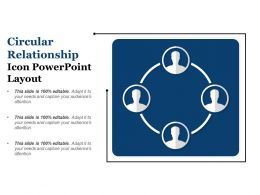 Circular Relationship Icon Powerpoint Layout