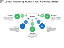 Circular Relationship Multiple Circles Connected In Mesh