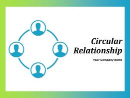 Circular Relationship Multiple Circles Process Connected In Mesh Business Marketing