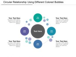Circular Relationship Using Different Colored Bubbles