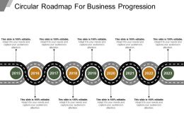 Circular Roadmap For Business Progression Sample Of Ppt