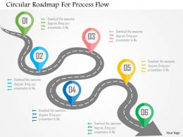 Circular Roadmap For Process Flow Flat Powerpoint Design