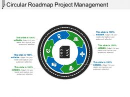 Circular Roadmap Project Management Powerpoint Ideas