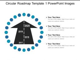 Circular Roadmap Template 1 Powerpoint Images