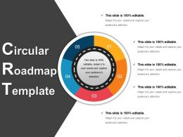Circular Roadmap Template 2 Powerpoint Layout