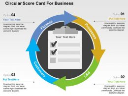 Circular Score Card For Business Flat Powerpoint Design