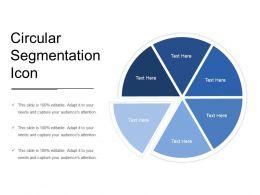 Circular Segmentation Icon