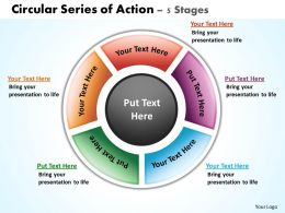 circular series of action 5 stages powerpoint diagrams presentation slides graphics 0912