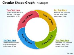Circular Shape Graph 4 Stages 25
