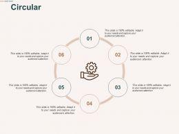 Circular Six Process C480 Ppt Powerpoint Presentation Professional Deck