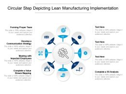 Circular Step Depicting Lean Manufacturing Implementation