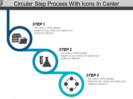 Circular Step Process With Icons In Center