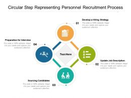 Circular Step Representing Personnel Recruitment Process