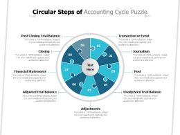 Circular Steps Of Accounting Cycle Puzzle