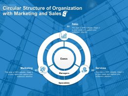 Circular Structure Of Organization With Marketing And Sales