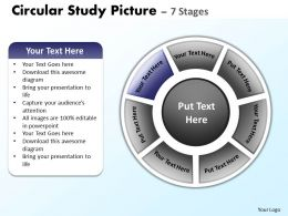 918867 Style Cluster Surround 7 Piece Powerpoint Template Diagram Graphic Slide