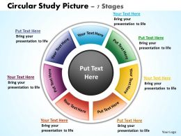 circular study picture 7 stages powerpoint diagrams presentation slides graphics 0912