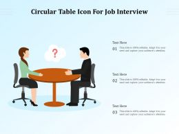 Circular Table Icon For Job Interview