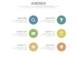 Circular Tags And Icons For Business Agenda Powerpoint Slides