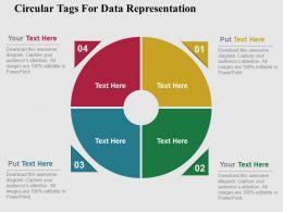 Circular Tags For Data Representation Flat Powerpoint Design