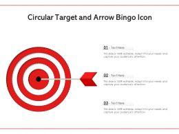 Circular Target And Arrow Bingo Icon