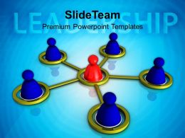 Circular Team Business Leadership Concept Powerpoint Templates Ppt Themes And Graphics 0213