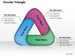 Circular Triangle PowerPoint Template Slide