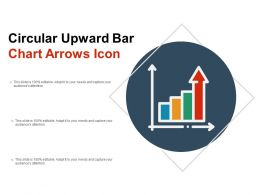 Circular Upward Bar Chart Arrows Icon