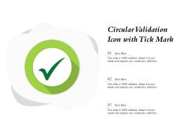 Circular Validation Icon With Tick Mark