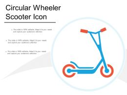 Circular Wheeler Scooter Icon
