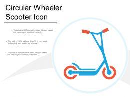 Circular Wheeler Scooter Icon