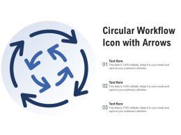 Circular Workflow Icon With Arrows