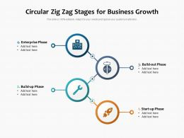 Circular Zig Zag Stages For Business Growth