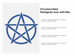 Circumscribed Pentagram Icon With Star