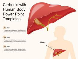 Cirrhosis With Human Body Power Point Templates