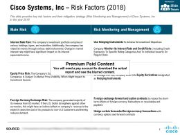 Cisco Systems Inc Risk Factors 2018