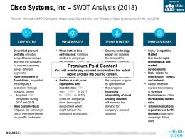Cisco Systems Inc Swot Analysis 2018