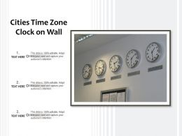 Cities Time Zone Clock On Wall