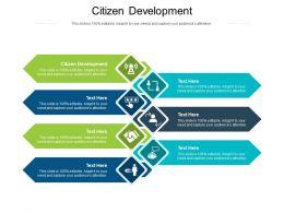 Citizen Development Ppt Powerpoint Presentation Gallery Files Cpb