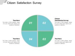 Citizen Satisfaction Survey Ppt Powerpoint Presentation File Designs Download Cpb