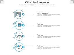 Citrix Performance Ppt Powerpoint Presentation Pictures Designs Cpb