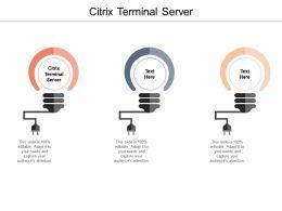 Citrix Terminal Server Ppt Powerpoint Presentation Infographics Tips Cpb