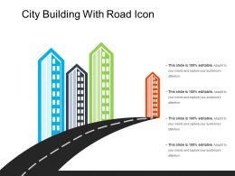City Building With Road Icon