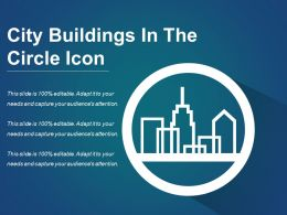 City Buildings In The Circle Icon