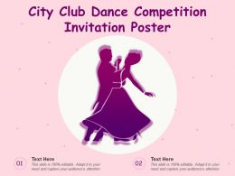 City Club Dance Competition Invitation Poster