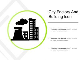 City Factory And Building Icon