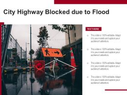 City Highway Blocked Due To Flood