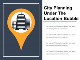 City Planning Under The Location Bubble